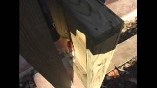 How To Build A Pergola - 13.attaching Pergola Base Concrete
