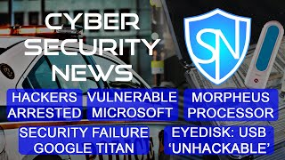 Morpheus, EyeDisk & Google Titan unhackable, arrested Mexican hackers, problems with Microsoft