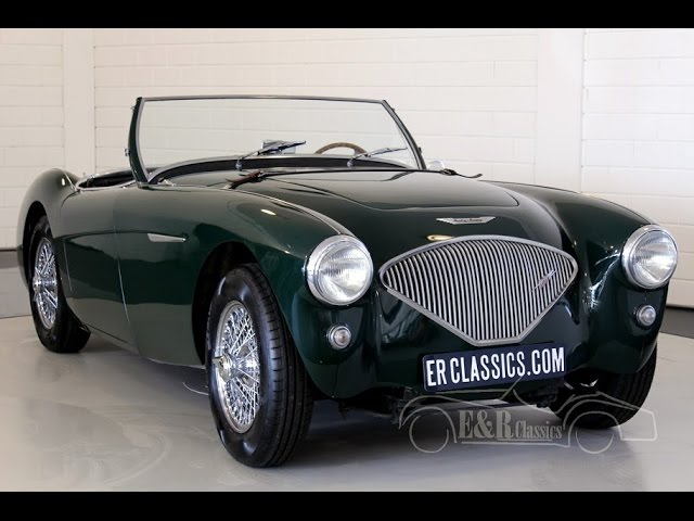 Austin Healey 100-4 BN1 with overdrive 1954 British Racing Green -VIDEO- www.ERclassics.com