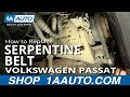 How To Install Replace Alternator Power Steering Engine Belt Volkswagen Passat 1.8T 1AAuto.com