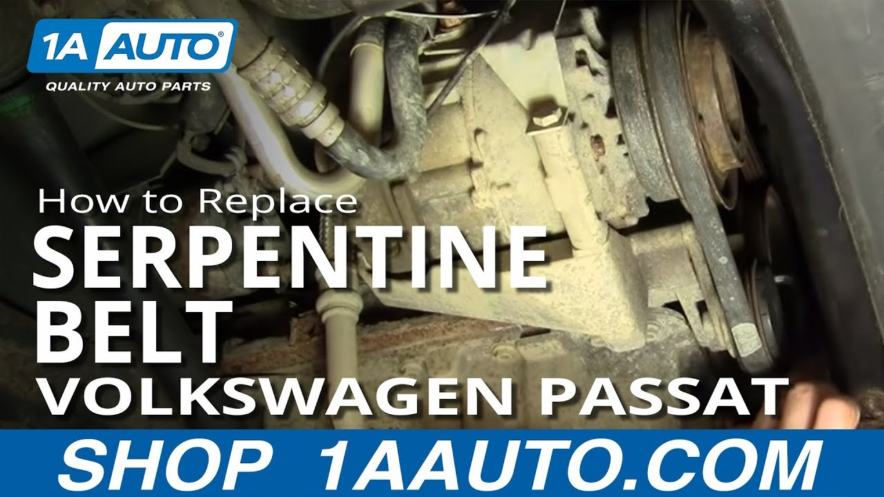 how to install replace alternator power steering engine belt volkswagen passat 1 8t 1aauto com [ 1280 x 720 Pixel ]