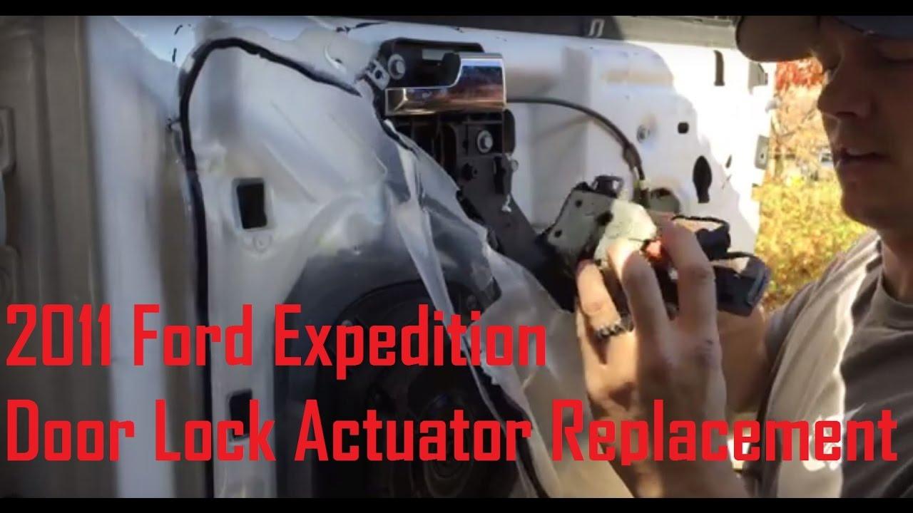 Door Lock Actuator Replacement 2011 Expedition Youtube