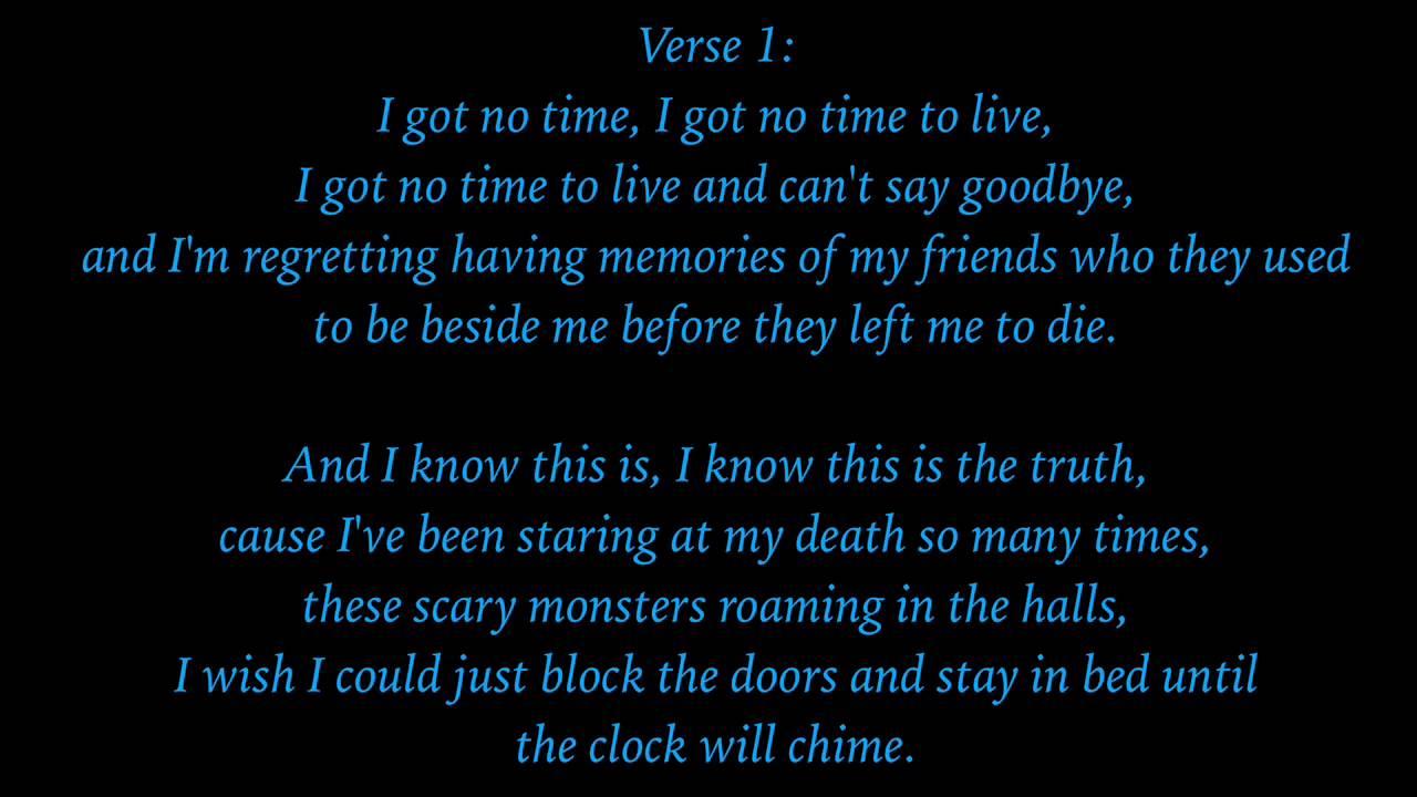 I Got No Time Lyrics Youtube