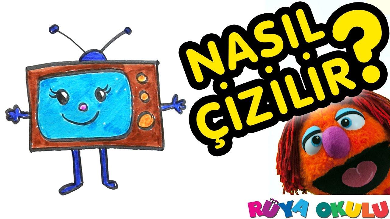 Nasıl çizilir Televizyon Tv çocuklar Için Resim çizme Rüya