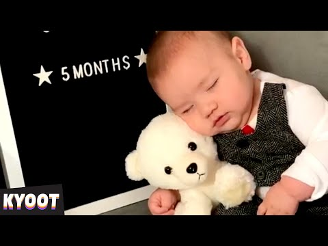He Can't Stay AWAKE 🤣 | Baby Cute Funny Moments | Kyoot