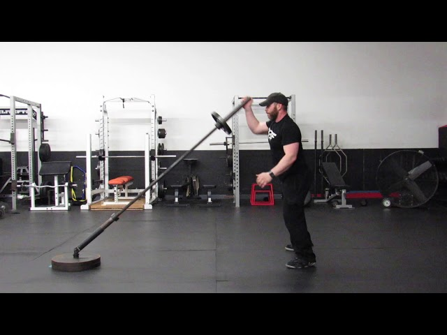 LANDMINE ALTERNATING PRESS WITH LATERAL FOOTWORK