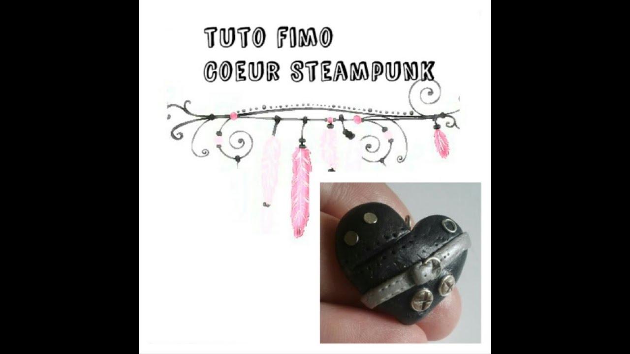 Coeur Steampunk tuto fimo: coeur steampunk #1 - youtube