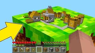 Minecraft NOOB vs PRO : NOOB FOUND THIS VILLAGE IN ONE BLOCK! Animation