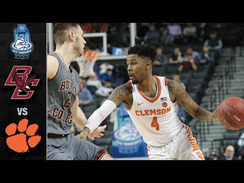 Boston College vs. Clemson ACC Basketball Tournament Highlights (2018)
