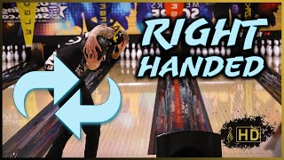 Jesper Svensson Bowling RIGHT HANDED! - Two Handed Bowling Training