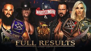 Full WWE Wrestlemania 36 Results
