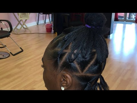 Parting For Jumbo Triangle Box Braids Rubber Band Method