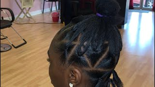 PARTING FOR JUMBO TRIANGLE BOX BRAIDS (RUBBER BAND METHOD) BEGINNER FRIENDLY TUTORIAL PART ONE