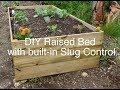 DIY Raised bed garden with built-in slug control