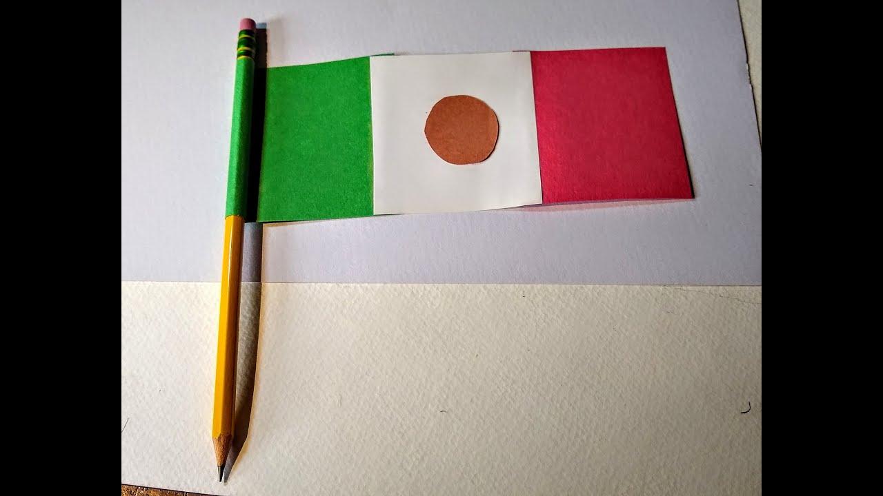 Cómo Hacer Bandera De México Con Papel Y Lápiz Suscribete Youtube