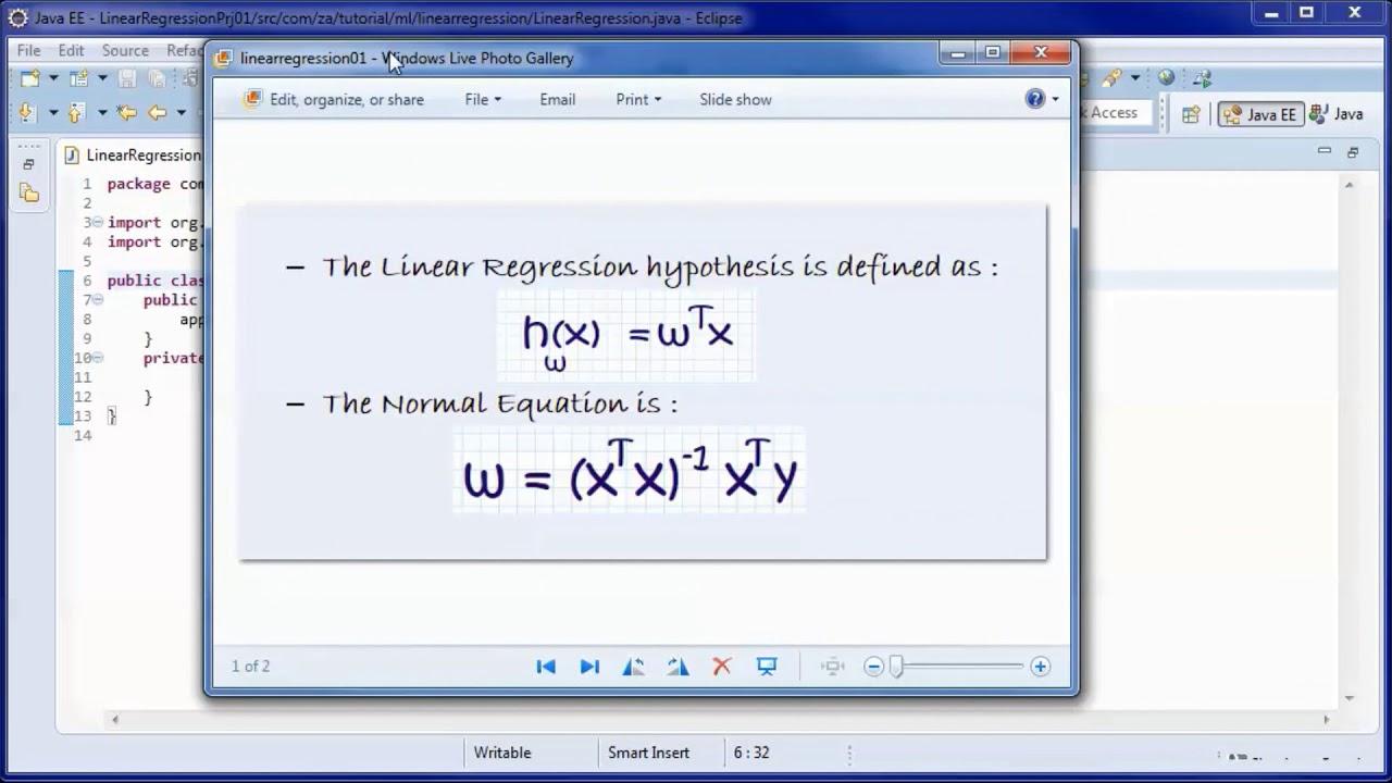 Linear Regression w/ Java & Normal Equation (Tutorial 01)