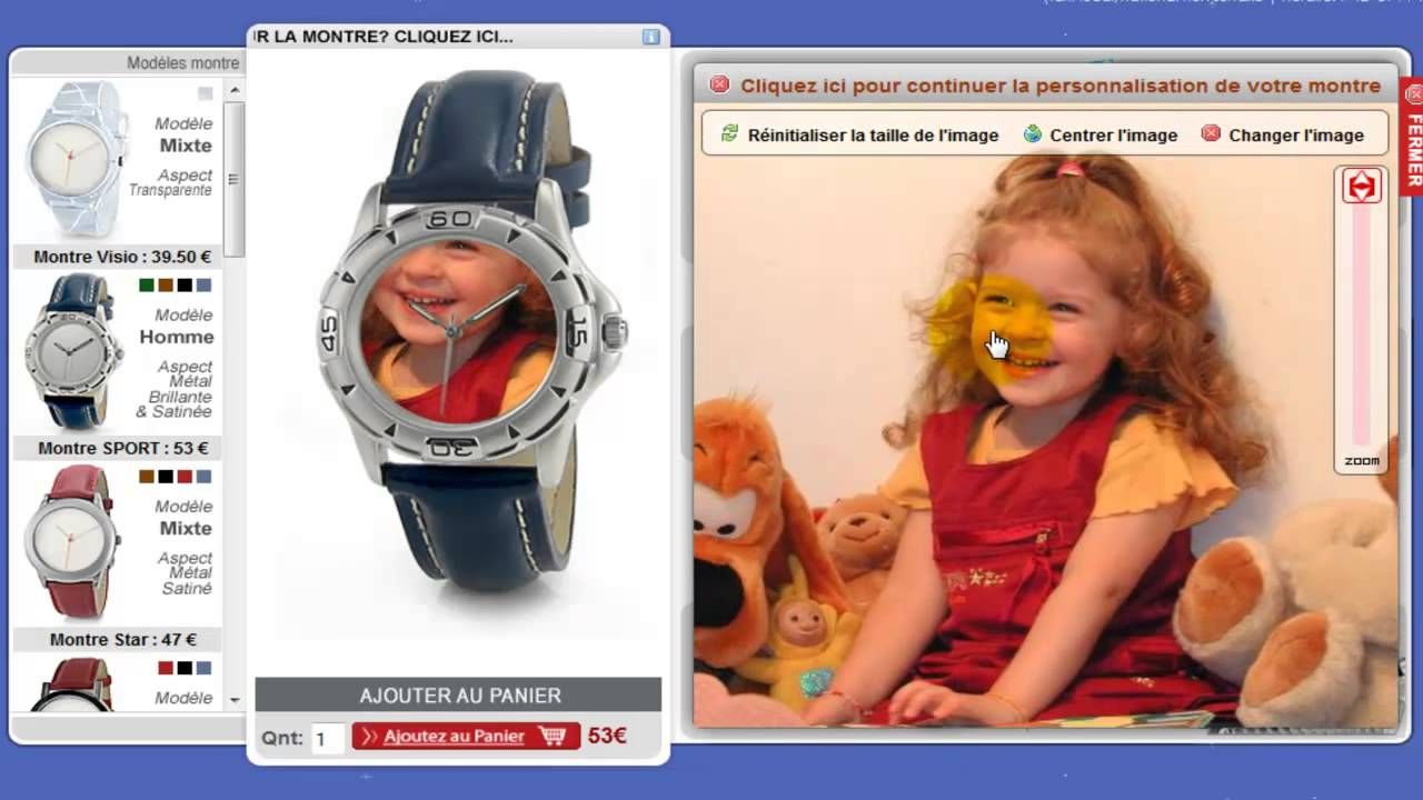 Hervorragend Idée de cadeau pour Noël (pas chère) - La montre personnalisable  VQ64