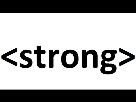Learn HTML code: strong text