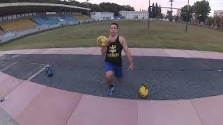 Упражнения с гирями для мышц ног. Гиревой фитнес.