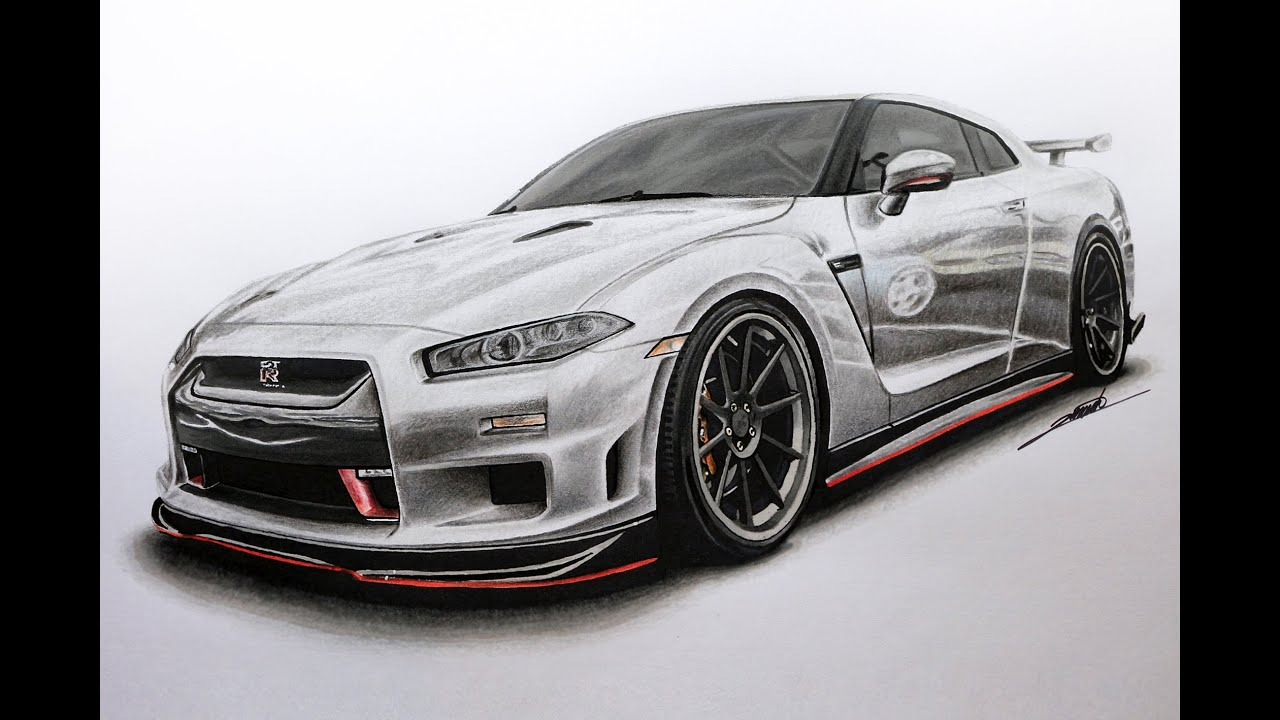 Nissan GTR Edition R34 Concept Drawing by Roman Miah - YouTube
