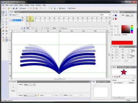 Видеоурок Flash 3  Анимация и ключевые кадры