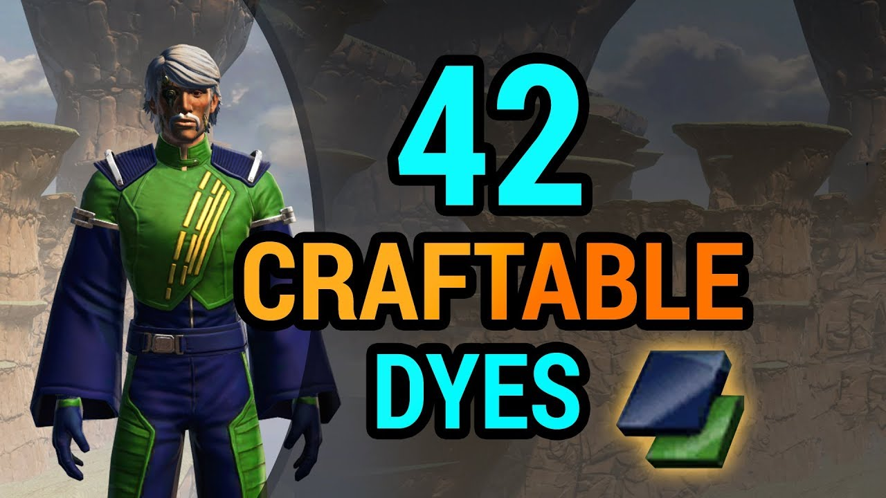 Craftable SWTOR Dyes - Swtorista on wii schematics, star trek schematics, star wars schematics, ps3 schematics,
