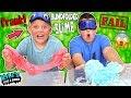 Making Slime Blindfolded Challenge! MESSY!