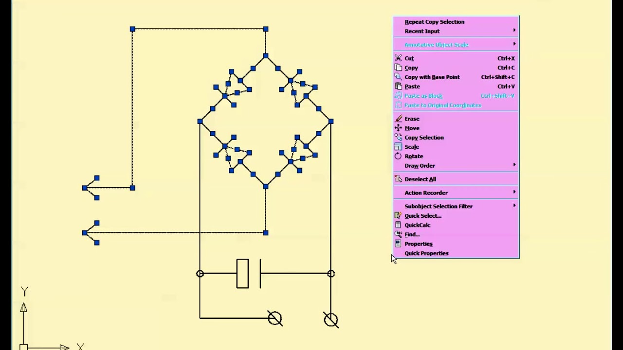 Drawing Diode Rectifiers In Autocad Youtube Wiring Diagram Blocks
