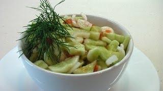 Огуречный салат «Пикантный». Очень вкусно!