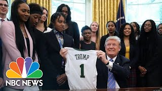 President Donald Trump Hosts NCAA Champion Baylor Women's Basketball Team At White House | NBC News
