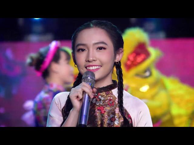 LK Xuân 2019 - 3 Cô Gái Miền Tây nhỏ tuổi nhất lần đầu tiên hát chúc Tết ....