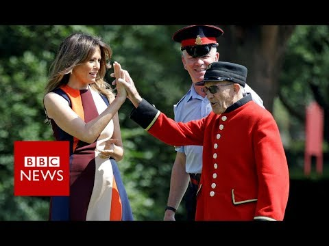 Trump in the UK: First lady meets Chelsea Pensioners - BBC News