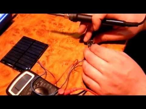 Солнечная батарея для телефона своими руками