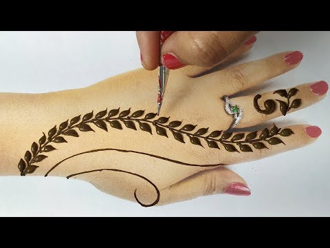 Easy Beautiful Mehndi - आसान मेहँदी लगाने का सबसे आसान तरीका - Stylish New Backhand Mehndi Design