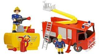 SAM il POMPIERE - Scopriamo i Camion dei Pompieri Jupiter e Venus [Apertura giochi per bambini]