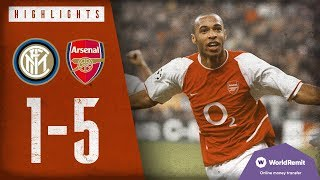 WHAT A PERFORMANCE! | Inter Milan 1-5 Arsenal | Champions League Highlights | 2003