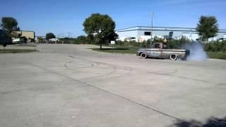 1964 Chevy C10 truck doing doughnuts, burnouts #2