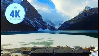 4K Virtual Hike - Lake Louise to the Tea House (Lake Agnes) - Fall season