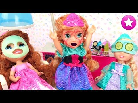 Anna Frozen ¿VENGANZA DE CENICIENTA? Spa y Salón de Belleza Princesas Disney