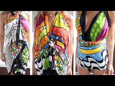 f61e0cc385ac DIY: 11 formas de transformar canga em vestido!! - YouTube