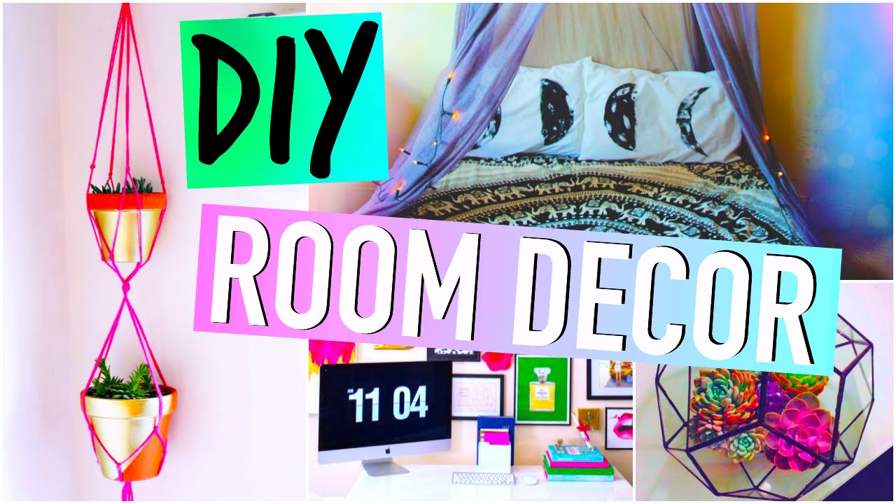 DIY Room Decorations: Tumblr inspired! - YouTube on Room Decor Tumblr id=98265