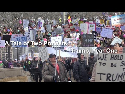 Labor Beat: A Tale of Two Protests - Trump, Year One
