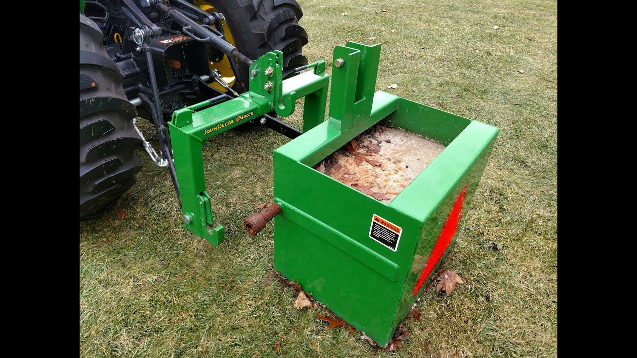3 Point Weight Box : How to use a john deere imatch quick attach system for the