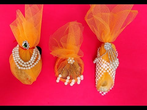 Diy How to make Decorate Shagun Nariyal \ coconut for weddings in 3 easy ways
