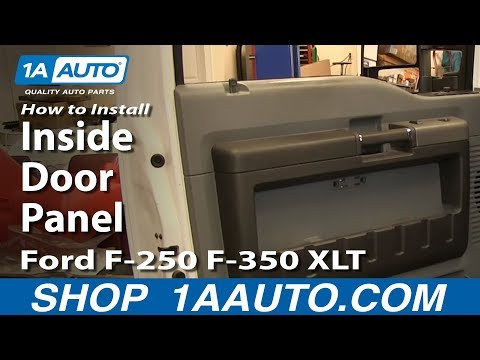How To Remove Inside Door Panel 11-16 Ford F250