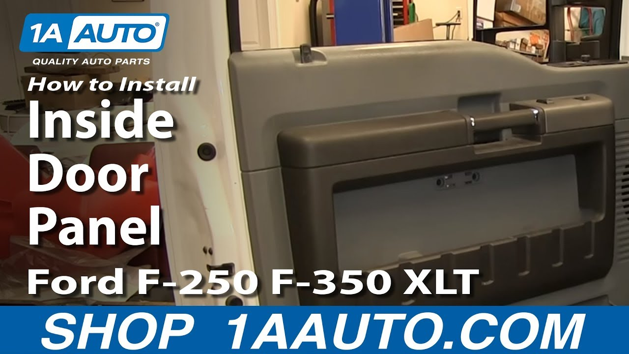 How To Install Remove Inside Door Panel Ford F 250 F 350 Xlt Youtube