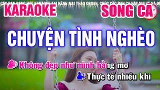 Karaoke Chuyện Tình Nghèo Song Ca Nhạc Sống | Mai Thảo Organ