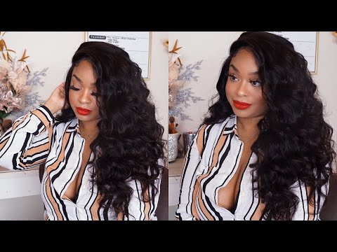 Nadula Hair Company  Brazilian Bodywave  Watch me wand curl my hair