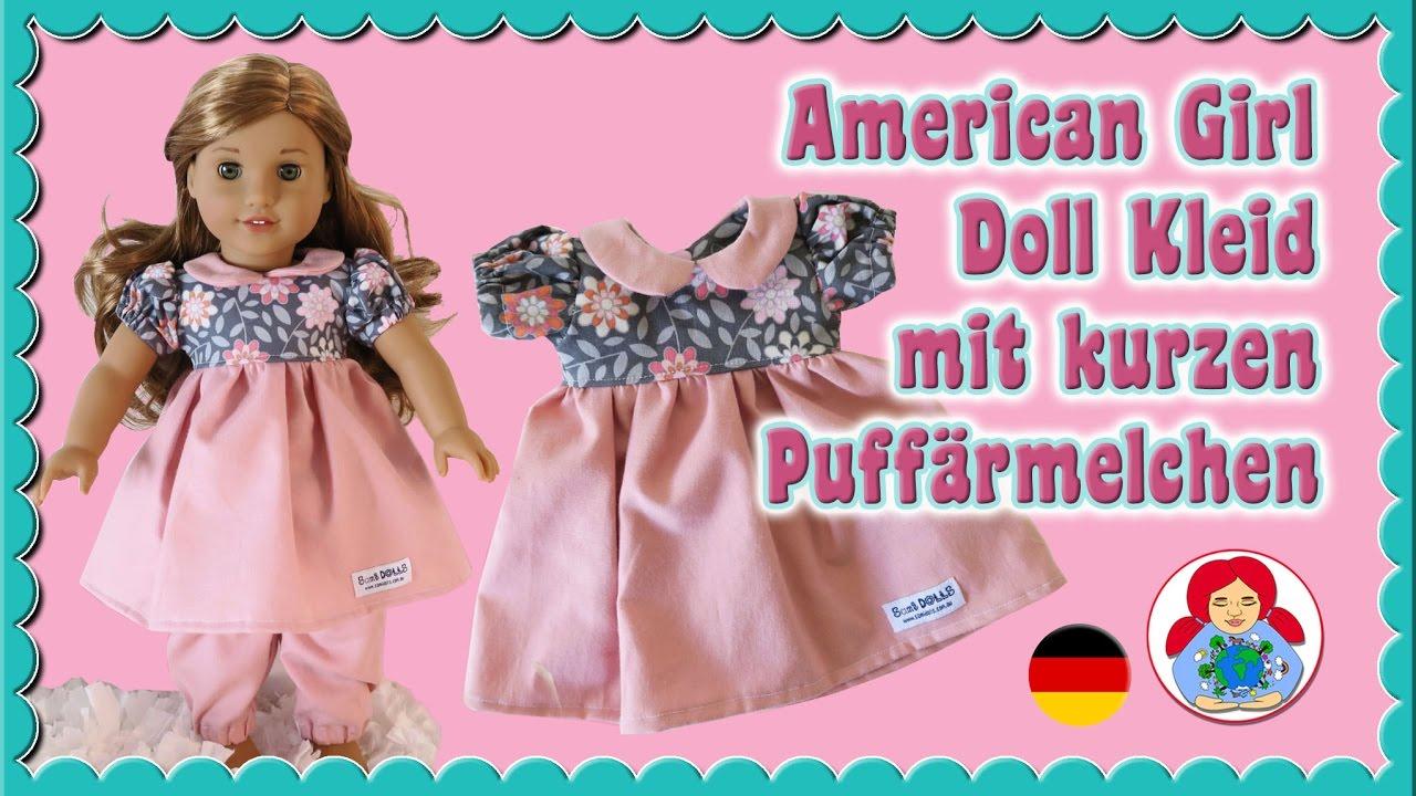 DIY   Puppenkleid Oberteil mit kurzen Puffärmelchen selber nähen ...