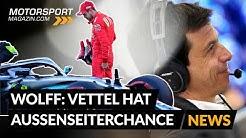 """""""Vettel ist Außenseiterkandidat"""" - Toto Wolff über Mercedes-Fahrer"""